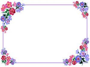 花 イラスト フレーム かわいい おしゃれ シンプル 無料 フリー