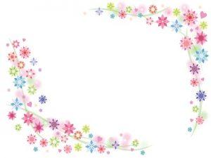 花 イラスト フレーム シンプル 無料 フリー