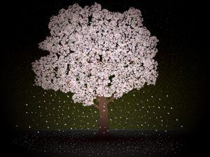 お花見 夜桜 イラスト おしゃれ 無料 フリー素材