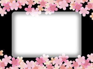 お花見 フレーム 枠 イラスト 無料 フリー素材