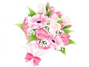 花束 イラスト 手描き かわいい 無料 フリー