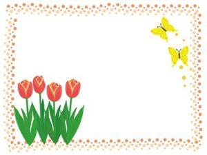 春の花 チューリップ イラスト フレーム 無料 フリー