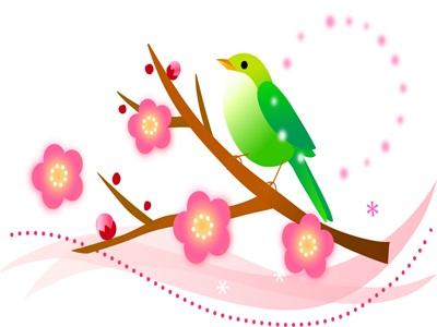 かわいいオシャレ梅の花のイラスト無料素材おすすめ じゃ