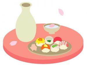 お花見 花見酒 食べ物 イラスト かわいい 無料 フリー