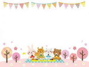 お花見 桜 フレーム イラスト 無料 フリー素材