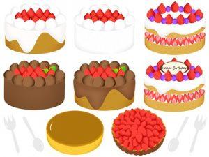 バースデーケーキ 誕生日ケーキ イラスト かわいい 無料 フリー