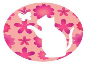花 猫 蝶々 イラスト シルエット 無料 フリー