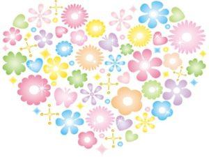 花束 ハート型 イラスト おしゃれ 無料 フリー