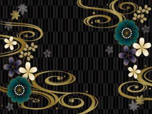 花 イラスト 和柄 和風 背景 壁紙 無料 フリー