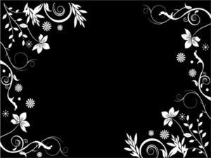 花 イラスト 白黒 モノクロ 無料 フリー