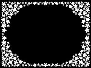 花柄 イラスト 白黒 モノクロ フレーム 無料 フリー