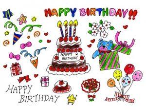 誕生日カード バースデーカード 手描き 手書き イラスト 無料 フリー