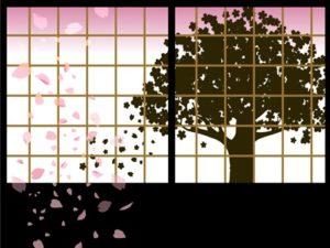 花 桜 シルエット イラスト 和風 無料 フリー