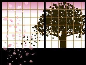 桜 シルエット イラスト 無料 フリー