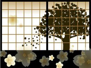 お花見 夜桜 イラスト 背景 無料 フリー