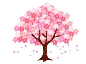 桜の木 イラスト 無料 フリー