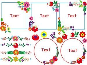 花 イラスト フレーム かわいい オシャレ 飾り枠 無料 フリー