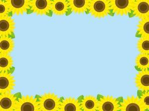 夏の花 ひまわり イラスト フレーム 無料 フリー