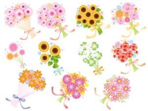 花束 イラスト ブーケ おしゃれ かわいい 無料 フリー