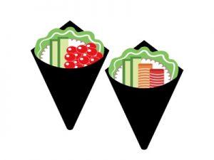 手巻き寿司 イラスト 子供の日 食べ物 無料 フリー