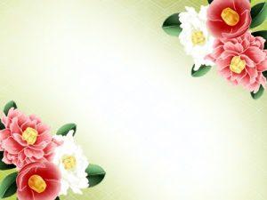 冬の花 椿 イラスト フレーム 無料 フリー