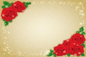 薔薇 バラ 赤 イラスト フレーム 無料 フリー