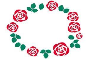 薔薇 バラ イラスト フレーム 無料 フリー