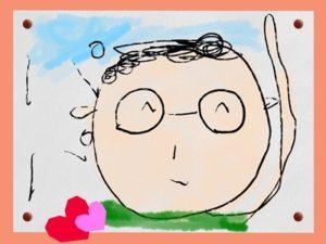 父の日 イラスト 似顔絵 フレーム 背景 無料 フリー