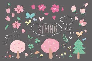 春 イラスト 手書き 手描き かわいい 無料 フリー