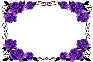 バラ 薔薇 紫 イラスト フレーム オシャレ 無料 フリー