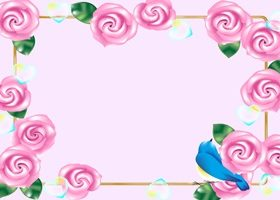 薔薇 イラスト フレーム 枠 無料 フリー