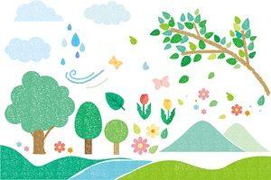 春 イラスト 樹木 かわいい 無料 フリー