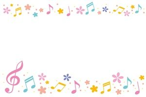 春 イラスト フレーム 音符 無料 フリー