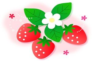 春 イラスト かわいい 苺 いちご 無料 フリー