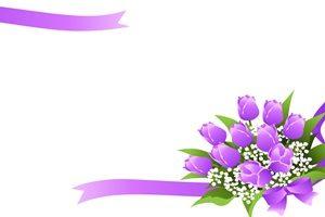 チューリップ 花束 イラスト フレーム 無料 フリー