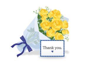 父の日 イラスト 花束 黄色いバラ 無料 フリー