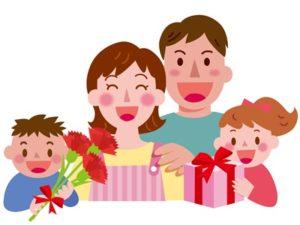母の日 イラスト かわいい 家族 無料 フリー