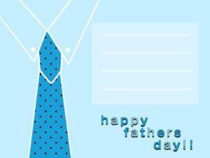 父の日 カード イラスト ネクタイ オシャレ かっこいい 無料 フリー