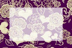 薔薇 バラ イラスト フレーム 和風 和柄 無料 フリー