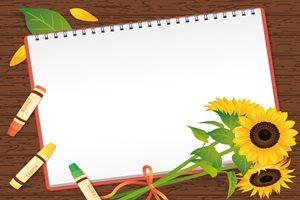 ひまわり 花束 ブーケ フレーム イラスト 無料 フリー