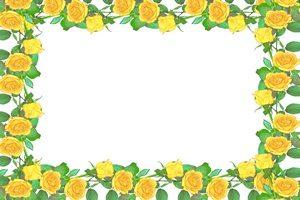 バラ 黄色 イラスト フレーム 無料 フリー