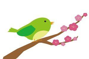 春 イラスト うぐいす かわいい 無料 フリー