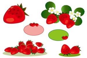 苺 いちご イチゴ イラスト 素材 無料 フリー