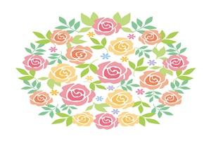 薔薇 バラ イラスト 背景 壁紙 無料 フリー