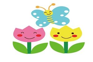 チューリップ 蝶 イラスト かわいい 無料 フリー