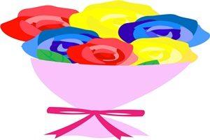 バラ 薔薇 花束 イラスト かわいい 無料 フリー