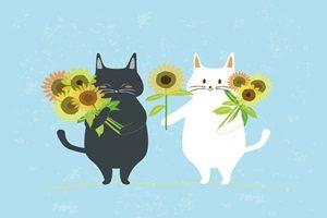 ひまわり 猫 イラスト 無料 フリー