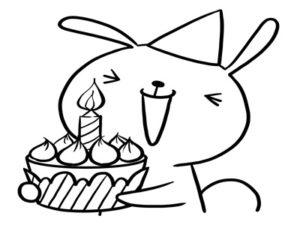 母の日 ケーキ 塗り絵 白黒 無料 フリー