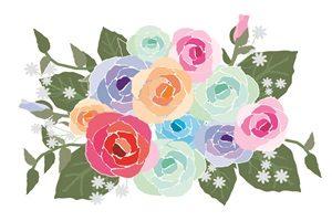 薔薇 バラ 花束 イラスト 背景 壁紙 無料 フリー