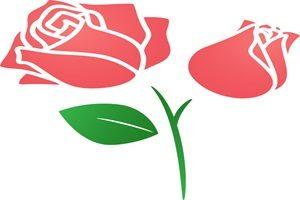 薔薇 バラ シルエット カラーシルエット かわいい 無料 フリー